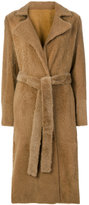 Yves Salomon belted tailored coat