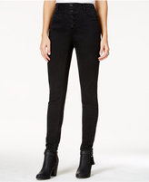 Tinseltown Juniors' High-Waist Five-Button Skinny Jeans