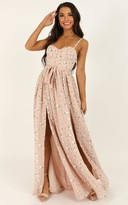 Showpo Tear Drops Dress in blush floral - 4 (XXS) Dresses