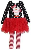 Bonnie Baby Baby-Girls Penguin Appliqued Tutu Skirt Legging Set
