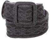 Saint Laurent Cable Knit Belt w/ Tags