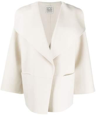 Totême wide lapel knitted jacket