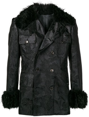 Jean Paul Gaultier Pre Owned Faux Fur Collar Jacket