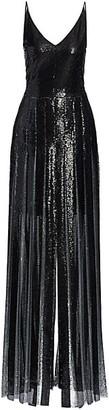 Akris Plisse Sequin Lurex Gown
