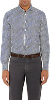 Boglioli MEN'S STRIPED SEERSUCKER SHIRT-BLUE SIZE S