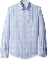Haggar Men's Big and Tall Long-Sleeve Microfiber Woven Shirt