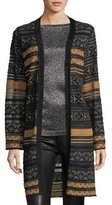 M Missoni Long Semisheer Chenille Ribbon Knit Cardigan