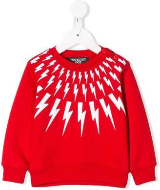 Neil Barrett Kids lightning bolt sweatshirt
