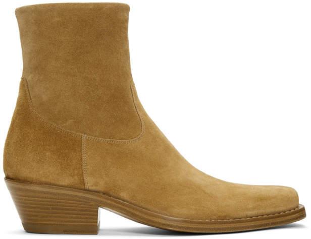 Calvin Klein Tan Suede Western Tod Boots