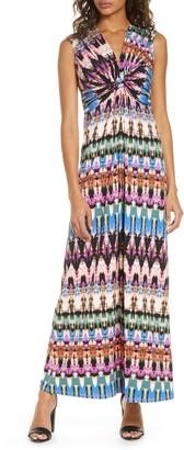 Brinker & Eliza Sleeveless Knot Detail Maxi Dress