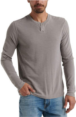 Lucky Brand Men Thermal Two-Snap Henley