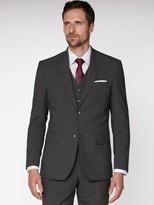 Jeff Banks Jeff Banks Texture Travel Suit Jacket In Regular Fit - Grey