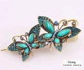 GOYESTORE Lovely Vintage Jewelry Crystal Butterfly bowknot Hairpins Hair stick - for hair Beauty Tools