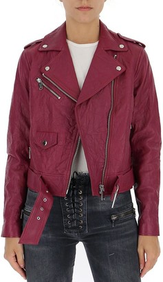 MICHAEL Michael Kors Creased Biker Jacket