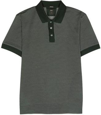 BOSS Perry green cotton-blend polo shirt