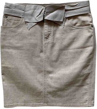 Lanvin Beige Cotton - elasthane Skirt for Women