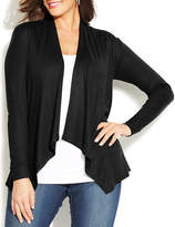 I.N.C International Concepts Plus Draped Open-Front Cardigan