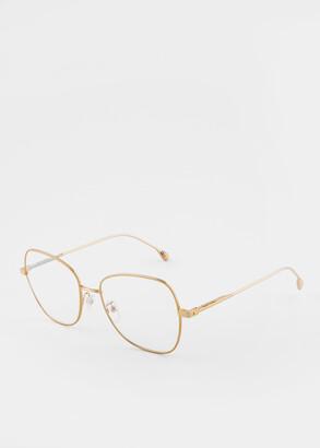 Paul Smith Shiny Gold 'Davis' Spectacles