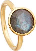 Astley Clarke Stilla 18ct yellow-gold plated labradorite ring