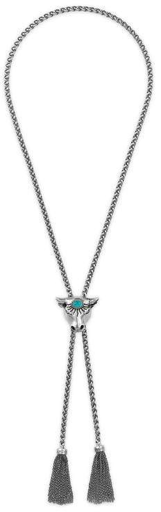 Gucci Anger Forest bull's head necklace in silver