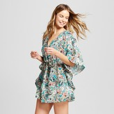 Knox Rose Women's Paisley Batwing Cover Up Dress - Turquoise