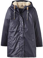 Joules Women's Rain Coats MARNAVY - Marine Navy Faux Fur-Lined Rainaway Rain Coat - Women