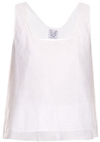 Thierry Colson Pablo embellished cotton top