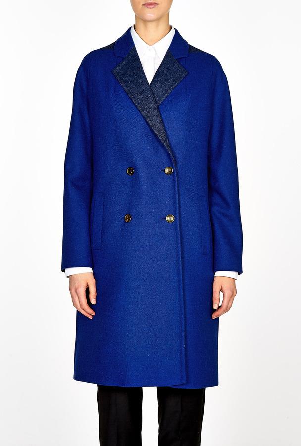 Paul Smith Black Moon Tweed Double Breasted Coat