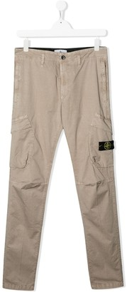 Stone Island Junior logo cargo trousers