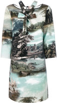 Antonio Marras landscape print shift dress - women - Polyester/Spandex/Elastane - 42
