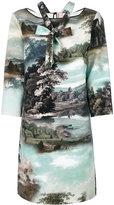 Antonio Marras landscape print shift dress - women - Polyester/Spandex/Elastane - 44