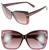 Tom Ford Women's 'Irina' 59Mm Sunglasses - Blonde Havana / Gradient Brown