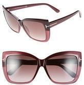 Tom Ford Women's 'Irina' 59Mm Sunglasses - Lilac/ Gradient Smoke