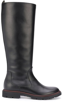 Bally Knee High Leather Riding Boots