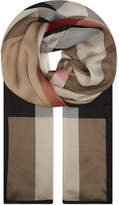 Burberry House check silk scarf
