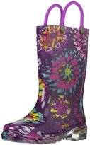 Western Chief Light Up Abstract BloomsRain Boot (Tod) - Purple-10 Toddler