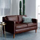 "west elm Hamilton Leather Loveseat (56"")"