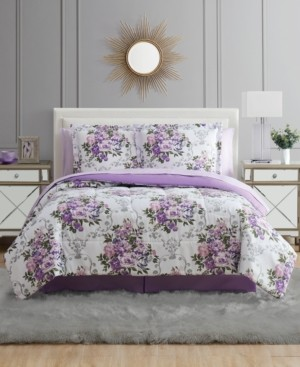 Pem America Floral Bouquet California King 8PC Comforter Set Bedding