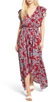 Splendid Women's Etched Floral Faux Wrap Dress