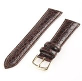Republic Men's Crocodile Grain Leather Watch Strap 18mm Regular Length, Brown