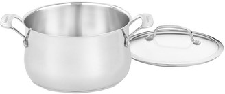 Cuisinart Contour Stainless 5-qt Dutch Oven with Glass Lid