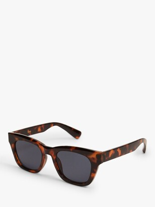 MANGO Committed Collection Square Frame Sunglasses