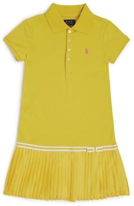 Ralph Lauren Kids Pleated Skirt Polo Dress (2-4 Years)