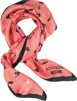 Moschino Shoes Printed Silk Square Scarf