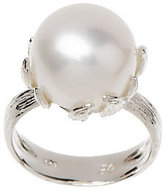 Honora As Is Cultured Pearl 12.0mm Button Sterling Ring