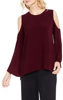 Vince Camuto Women's Bell Sleeve Cold Shoulder Blouse