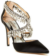 Badgley Mischka Glamorous Crystal-Embellished Pointy Toe Pump