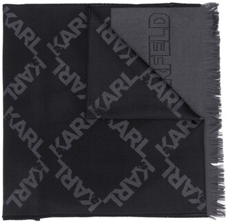 Karl Lagerfeld Paris Logo Print Scarf