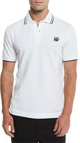 McQ by Alexander McQueen Logo Polo Shirt w/Contrast Tipping, Darkest Black