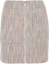 The Elder Statesman Woven Cashmere Mini Skirt - Sand